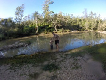 Dad and Thomas in the River