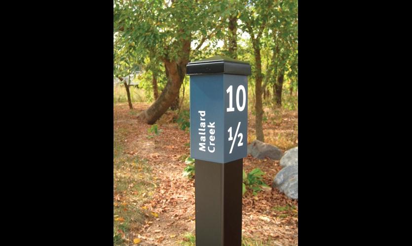 Greenway mile marker